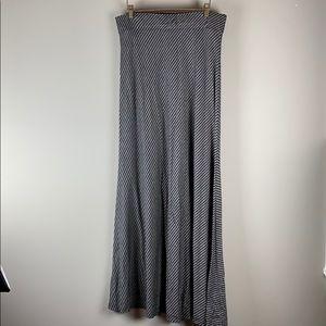 Ann Taylor black and white striped maxi skirt
